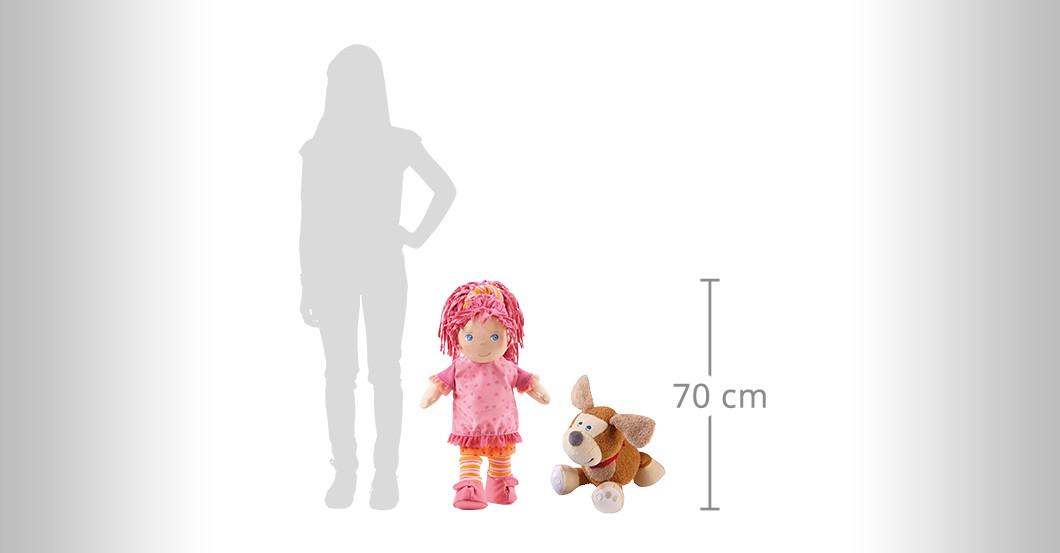Puppe Lilli & Hund Leo