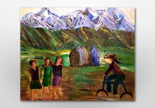Afghanische Frau Ina Malo