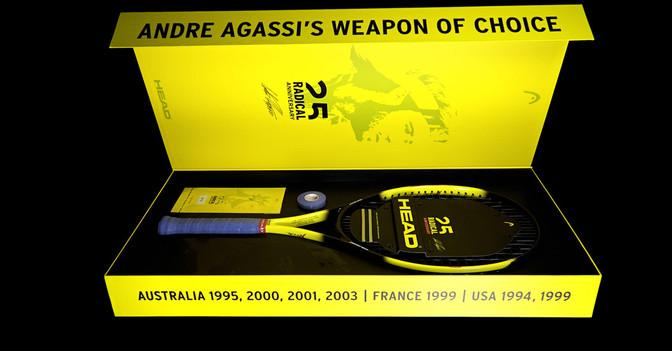 Andre Agassi Schläger Box