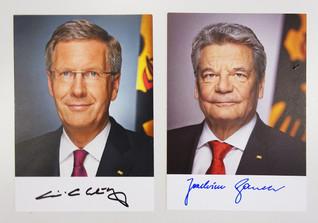Autogramme Präsidenten