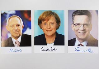 Autogrammkarten CDU