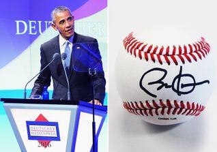 Baseball Barack Obama