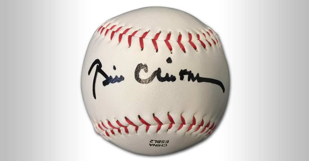 Baseball Bill Clinton