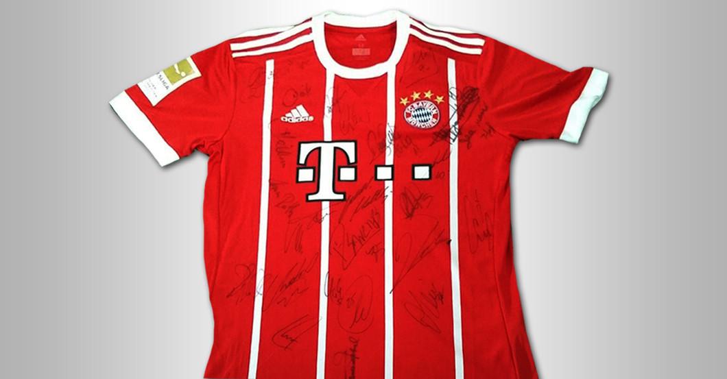Fc Bayern Trikot Saison 20172018 Mit Star Signaturen