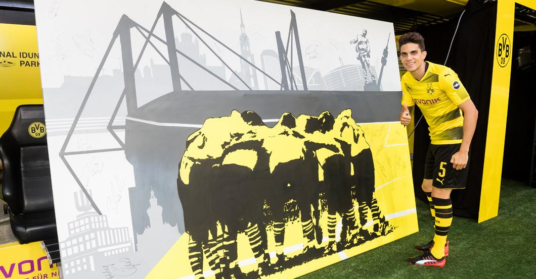 BVB Graffiti signiert