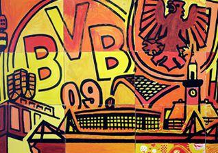 BVB Leinwand signiert