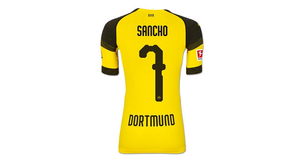newest 5ecaf 2dca3 Straight from Bayern Munich vs BVB: Sancho's Worn Shirt