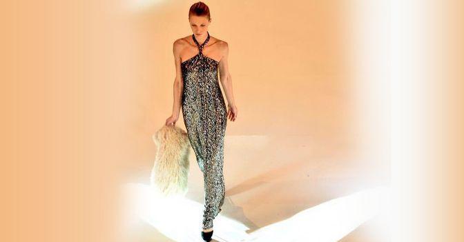 Designer Pailletten Kleid
