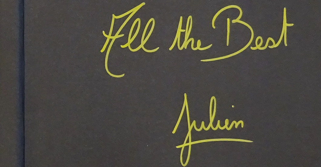 From The Top Pastry Chef Julien Duvernay Signed Book