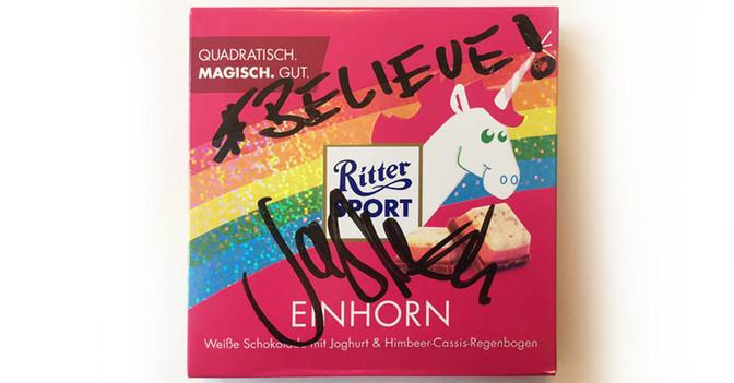 Einhorn Schokolade Sasha