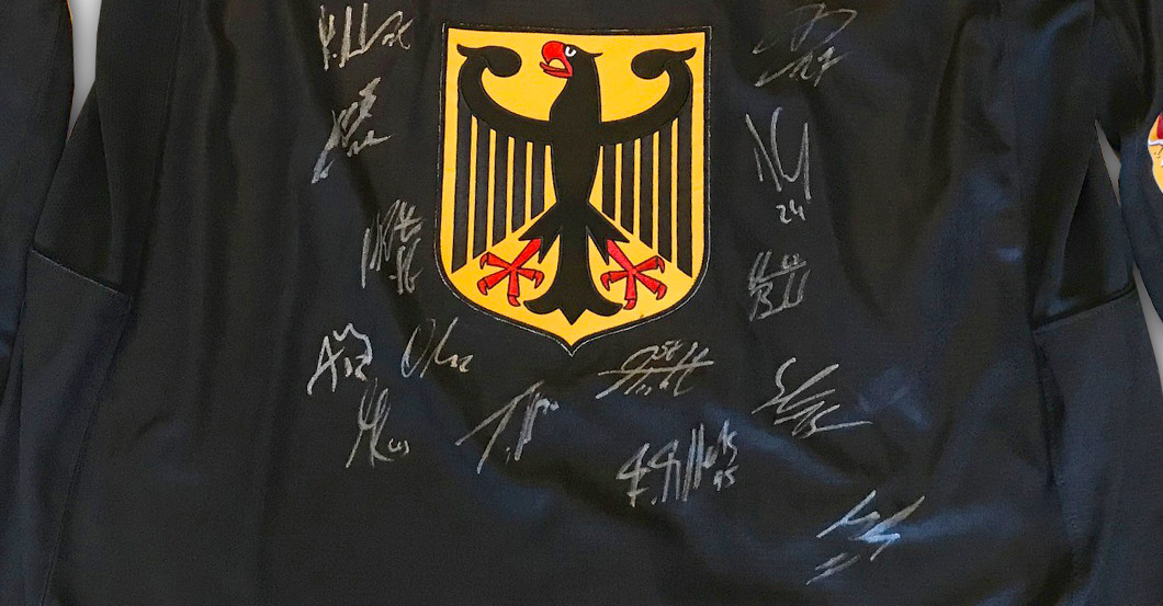 signed ice hockey jersey
