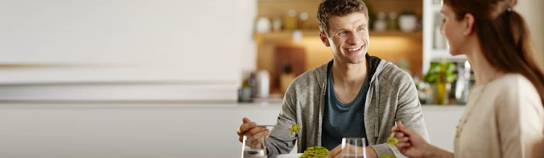 Essen mit den Müllers