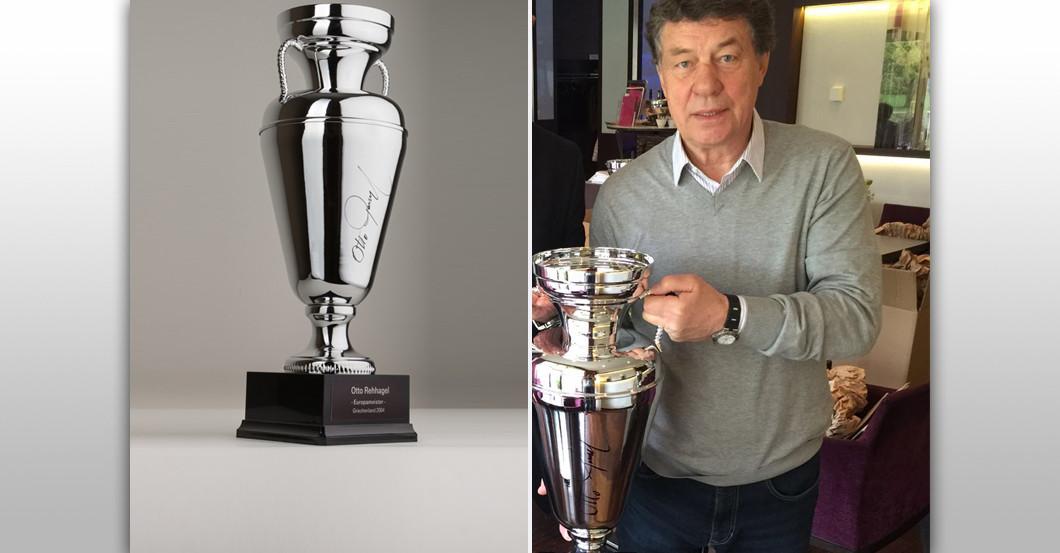 Euro Pokal signiert