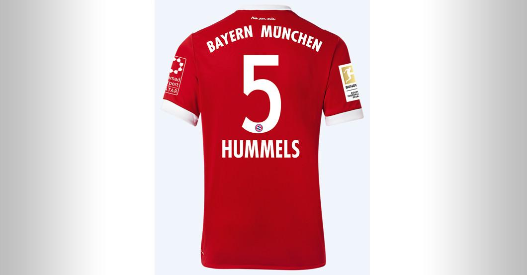 hot sale online c857c c4e6c Straight from FC Bayern versus BVB: Mats Hummels's Jersey
