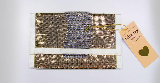 Die goldene Madison Clutch von Felix Rey direkt aus New York