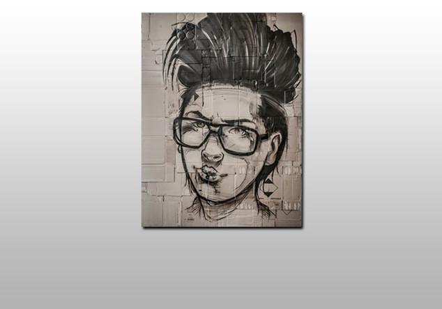 Frau mit Brille Hombre