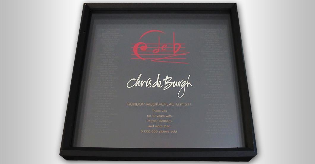 Gerahmter Award de Burgh