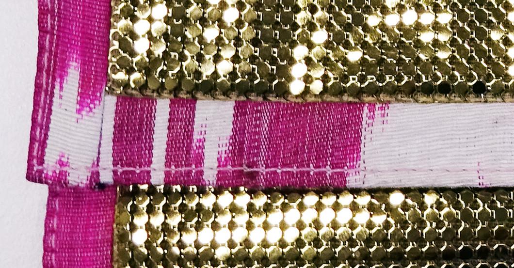 Goldene Clutch pink