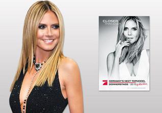 Von Heidi Klum handsigniertes Topmodel-Poster