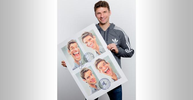 Karikatur Müller signiert