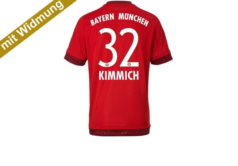 30. Spieltag: Joshua Kimmich FC Bayern München-Trikot mit Widmung