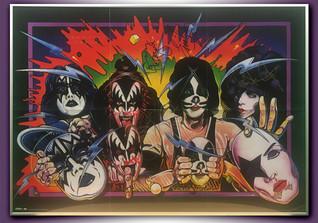 Kiss gerahmtes Bild