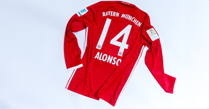 Matchworn Trikot Alonso