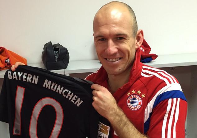 Matchworn Trikot Robben