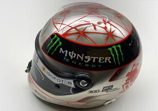 Mini Helmet silver red