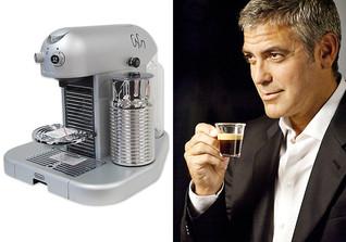 George Clooney beim Nespresso-Dreh