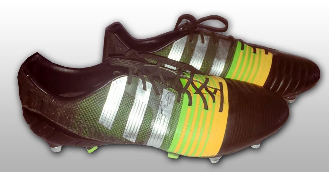 Neuers getragene Schuhe