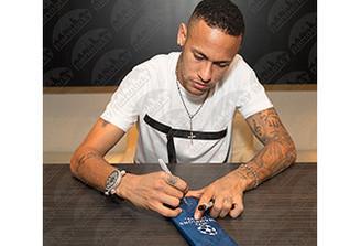Neymars signierter Schirm