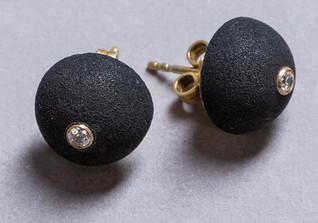 Ohrringe schwarze Kugel