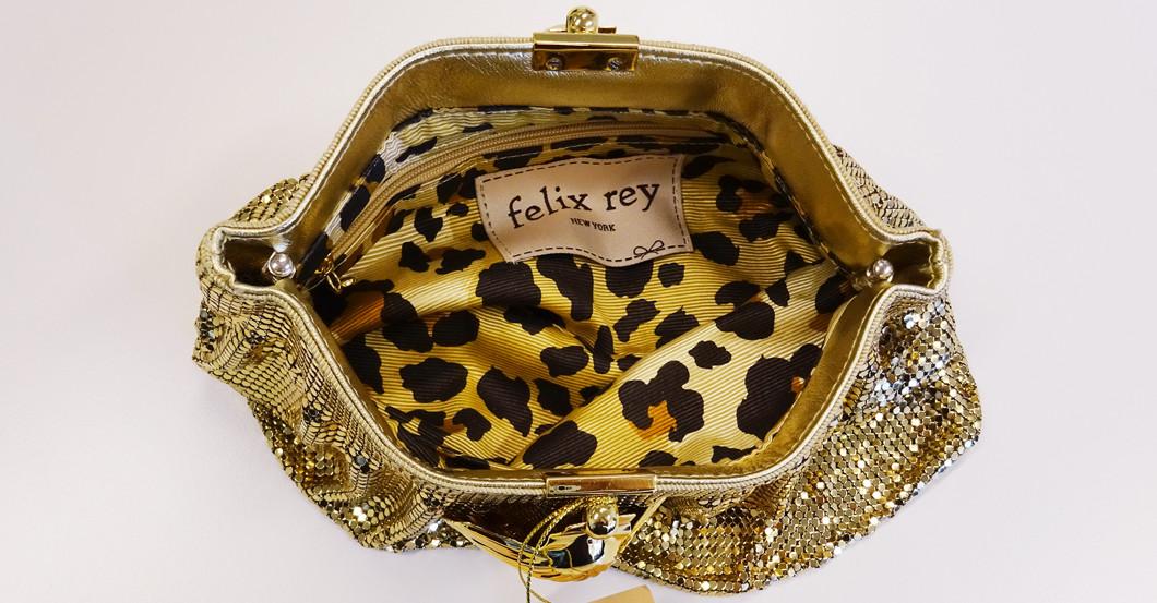 Pailletten Clutch gold