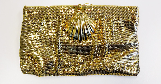 Pailletten Clutch gold
