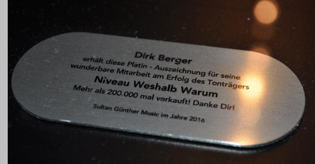Platin Award Dirk Berger