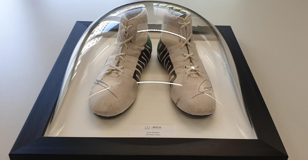 Unique: Lewis Hamilton's Worn Formula 1 Racing Shoes