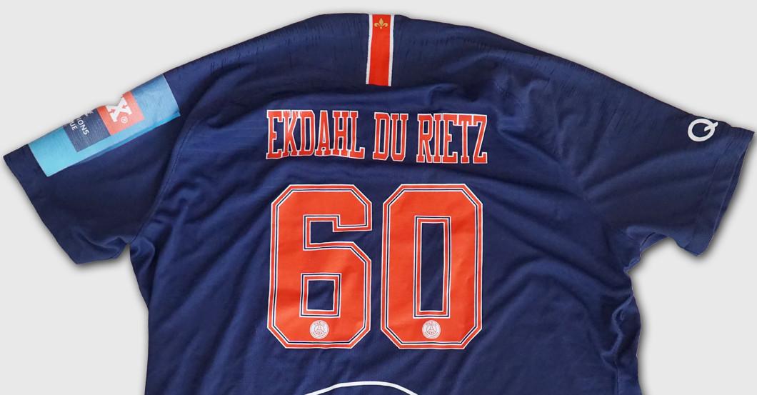 finest selection 4e5dd 96340 Handball star Kim Ekdahl du Rietz's Worn CL Shirt