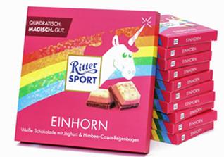 Einhornschokolade Ritter Sport