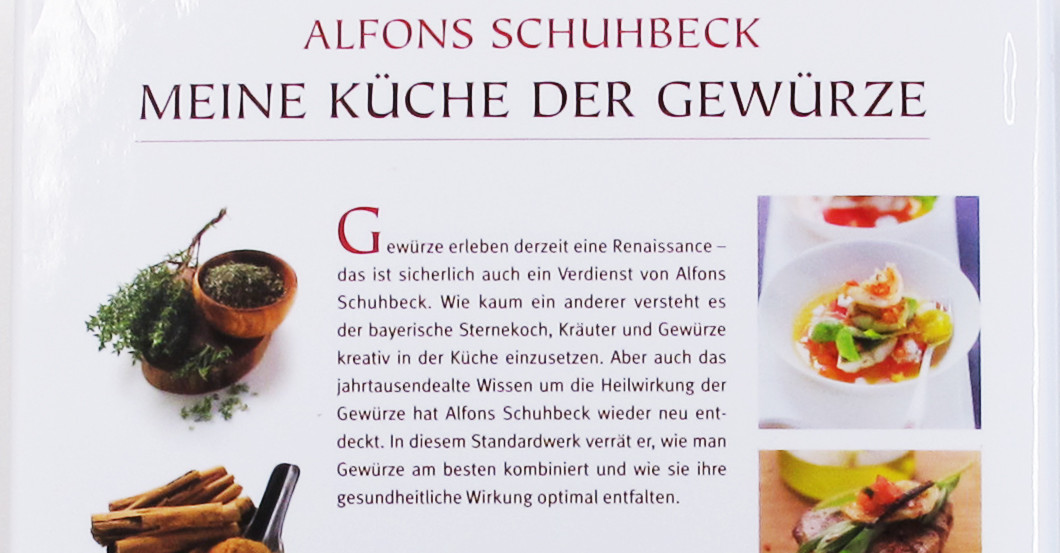 By Alfons Schuhbeck: His signed Cook Book \