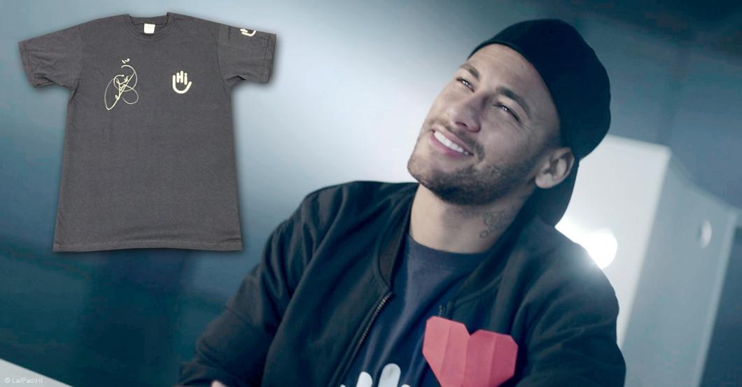 Shirt Neymar signiert
