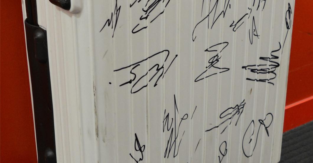 Signierter Rimowa Koffer
