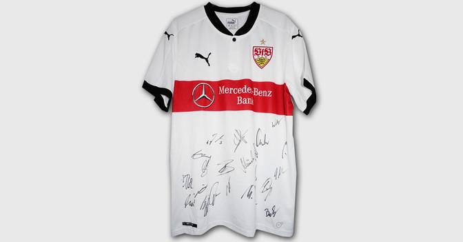 Teamsigniertes VfB Trikot