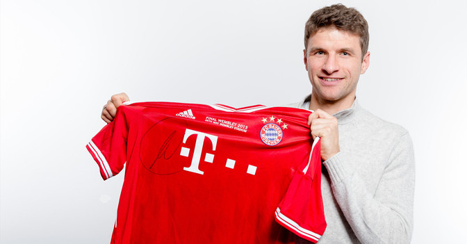 Thomas Müllers CL Trikot