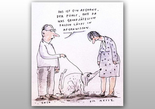 Til Mette Karikatur