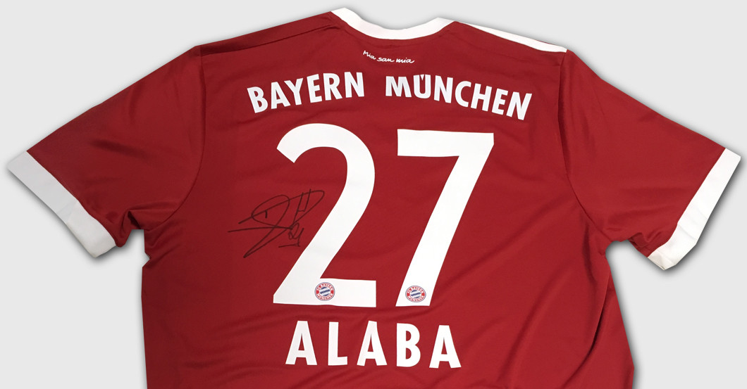 pretty nice 6f072 01250 FC Bayern's Defensive Star David Alaba Auctions Jersey