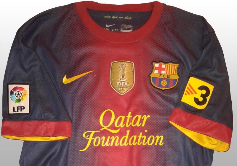 Trikot Barcelona Autogramme signiert Unterschriften FCB  Messi Suarez Fußball-Trikots