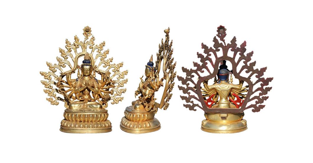 besondere dekoration vergoldeter buddha. Black Bedroom Furniture Sets. Home Design Ideas