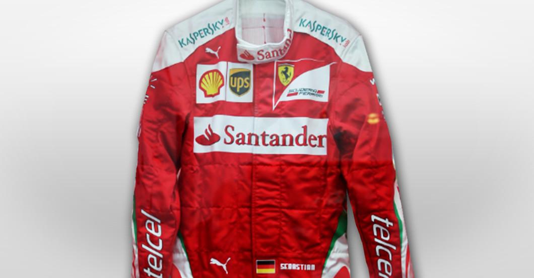 Vettels Ferrari Rennanzug