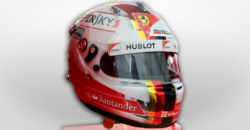 Vettels Ferrari Rennhelm